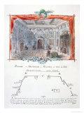 "Set Design and Stage Directions for an 1877 Production of ""Hernani"" by Victor Hugo, 1879 Giclée-Druck von Valnay Pere Et Fils"