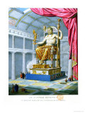 Statue of Olympian Zeus on His Throne Inside His Temple at Olympus, 1814 Giclee Print