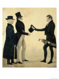 Three Gentlemen Greeting Each Other Giclee Print by Richard Dighton