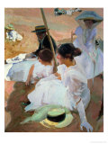 Under the Parasol, Zarauz, 1910 Giclee Print by Joaqu&#237;n Sorolla y Bastida