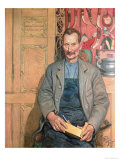 Hans Arnbom, the Carpenter Premium Giclee Print by Carl Larsson