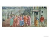 The Tribute Money, from the Brancacci Chapel, circa 1426 Giclee Print by Tommaso Masaccio