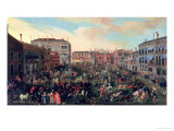 Festival of the Bulls, Campo San Polo Giclee Print by Joseph Heintz