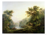 The Fishing Party, Loch Katrine, Scotland Giclee Print by Alexander Nasmyth