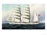The East African in Full Sail Giclee Print by Antonio Jacobsen