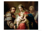 Madonna and Child with Saints John, Anna and Rocco, circa 1785 Giclee Print by Gaetano Gandolfi