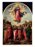 Assumption of the Virgin Giclee Print by Jacopo Palma