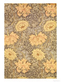 """Chrysanthemum"" Wallpaper Design, 1876 Premium Giclee Print by William Morris"