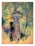 "Titania, Costume Design for ""A Midsummer Night's Dream"" Giclee Print by C. Wilhelm"