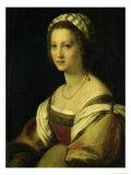Lucrezia De Baccio Del Fede, the Artist's Wife Giclee Print by  Andrea del Sarto