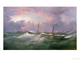 "Portrait of the ""Isis,"" a Steam and Sail Ship Giclee Print by Samuel Walters"