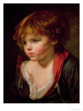 A Blond Haired Boy with an Open Shirt Giclée-Druck von Jean-Baptiste Greuze