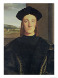 Portrait of Guidobaldo Da Montefeltro, Duke of Urbino Reproduction proc&#233;d&#233; gicl&#233;e par Raphael 