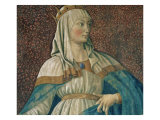 Queen Esther, from the Villa Carducci Series of Famous Men and Women, circa 1450 Premium Giclee Print by  Andrea del Castagno
