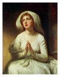 Lady Hamilton Praying Giclee Print by George Romney