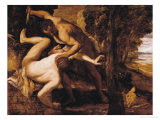 Cain Slaying Abel Giclee Print by Jacopo Robusti Tintoretto