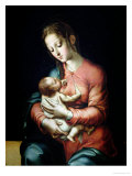 The Virgin and Child Giclee Print by Luis De Morales