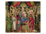 Virgin and Child with Saints from the Altarpiece of San Barnabas, circa 1487 Giclee Print by Sandro Botticelli