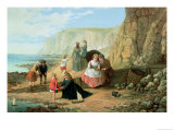 A Day at the Seaside Giclee Print by William Bell Scott
