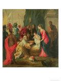 Adoration of the Magi (stained glass) Reproduction procédé giclée par Hendrik van Balen the Elder