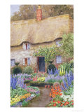 A Cottage Garden in Full Bloom Premium Giclee Print by John Henry Garlick