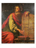 Moses and the Tablets of the Law Premium Giclee Print by Laurent de La Hyre