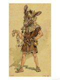 "Bottom, Costume Design for ""A Midsummer Night's Dream"" Giclee Print by C. Wilhelm"