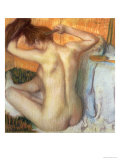 Woman Combing Her Hair, circa 1886 Giclee Print by Edgar Degas