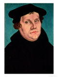 Portrait of Martin Luther, 1529 Lmina gicle por Lucas Cranach the Elder
