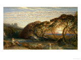 The Shadowy Stream Giclee Print by Samuel Palmer
