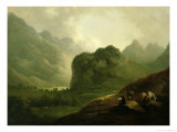 A Sketching Party in the Pass at Borrowdale Giclee Print by Julius Caesar Ibbetson