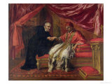 St. Filippo Neri Curing Pope Clemente VIII Giclee Print by Pietro Da Cortona 