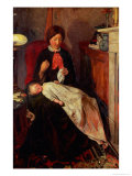 An English Fireside of 1854-5 Giclee Print by Ford Madox Brown