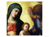 Madonna and Child with Angels circa 1510-15 (Detail) Giclee Print by  Correggio