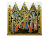 Santa Trinita Altarpiece, Frame and Pinnacles by Lorenzo Monaco Completed circa 1434 Giclee Print by Fra Angelico