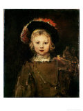 Young Boy in Fancy Dress, circa 1660 Giclee Print by  Rembrandt van Rijn