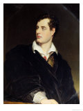 Lord Byron after a Portrait Painted by Thomas Phillips in 1814, 1844 Premium Giclee Print by William Essex