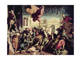 St. Mark Rescuing a Slave Giclée-tryk af Jacopo Robusti Tintoretto