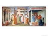 St. Peter Healing a Cripple, and the Raising of Tabitha, circa 1427 Giclee Print by Tommaso Masolino Da Panicale