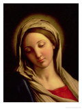 The Madonna Reproduction procédé giclée par Giovanni Battista Salvi da Sassoferrato