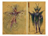 "Two Costumes for Fairies from ""A Midsummer Night's Dream"" Giclee Print by C. Wilhelm"