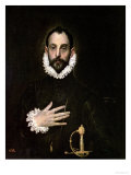 A Nobleman with His Hand on His Chest, circa 1577-84 Giclée-tryk af  El Greco