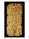 "Gold Plate with ""Lengthy"" Etruscan Inscription from Santa Severa, Pyrgi, 5th Century BC Giclee Print"