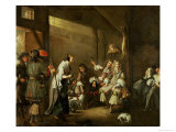 Cavaliers and Companions Carousing in a Barn Lmina gicle por Edwaert Collier