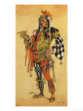 "Touchstone the Clown, Costume Design for ""As You Like It"" Giclee Print by C. Wilhelm"