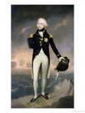 Portrait of Lord Nelson with Santa Cruz Beyond Premium Giclee Print by Lemuel Francis Abbott