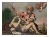Sacrifice of Isaac Giclee Print by Felice Ficherelli