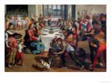 Wedding at Cana, 1580-85 Giclee Print by Andrea Boscoli
