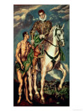 St. Martin and the Beggar Giclee Print by  El Greco