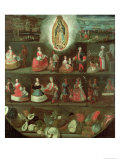 The Virgin of Guadalupe, Mexican, 18th Century Giclee Print by Luis De Mena